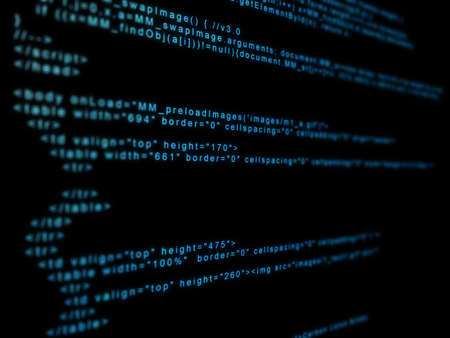 worldwideweb: code matrix Stock Photo