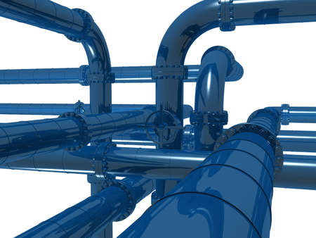 gas furnace: pipelines Stock Photo