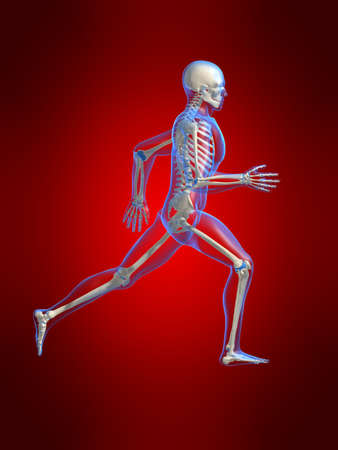 medicine man: running man anatomy Stock Photo