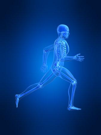 radiation therapy: running man anatomy Stock Photo