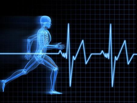 huesos: Anatom�a hombre corriendo