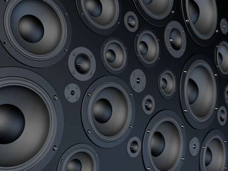 woofer: wall of speaker