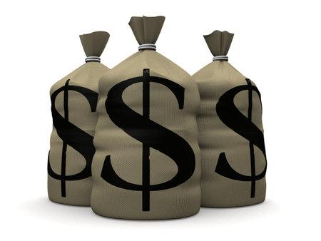money sacks Stock Photo - 1424596