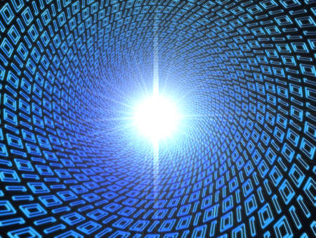 worldwideweb: binary tunnel Stock Photo