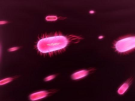streaming bacteria Stock Photo - 1424461