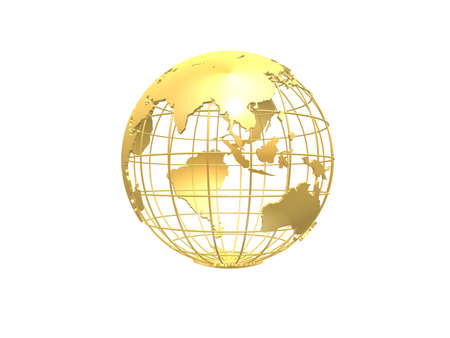 world economy: golden globe Stock Photo