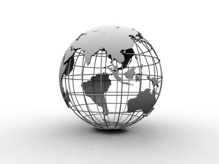 longitude: silver globe