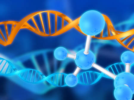 researchs: dna and molecules