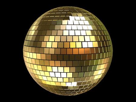 red glittery: Golden discoteca sfera  Archivio Fotografico