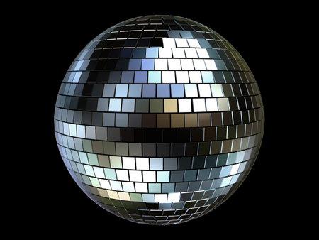 3d disco ball photo