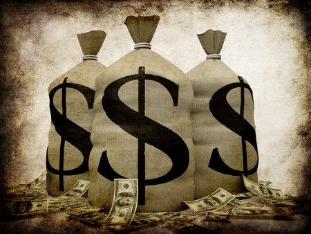 cash money: Grunge dinero