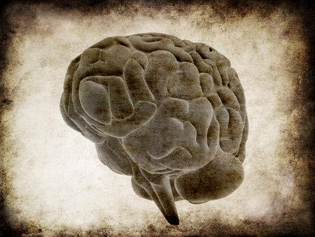 grunge brain Stock Photo