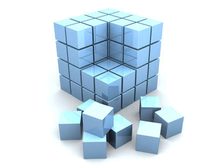 the stranger: 3d cubes Stock Photo