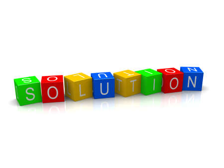 solution cubes Stock Photo