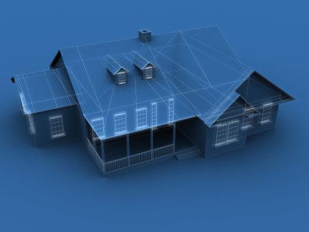 blueprint house photo