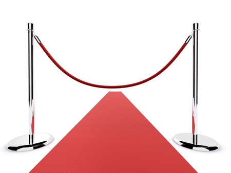 vip area: red carpet barrier