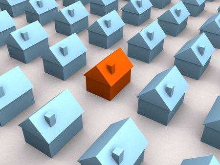 little 3d houses photo