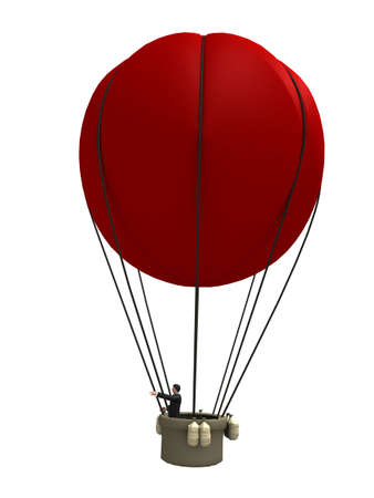 red hot air balloon photo