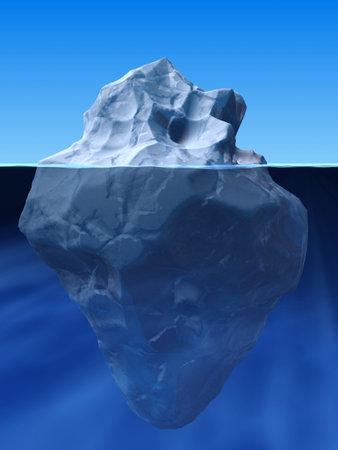 icebox: ice berg Stock Photo