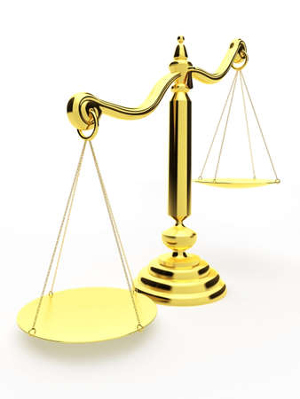 verdicts: golden scale Stock Photo