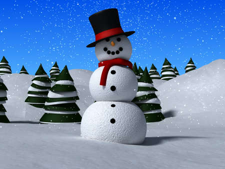 3d snowman Stock Photo - 2021306