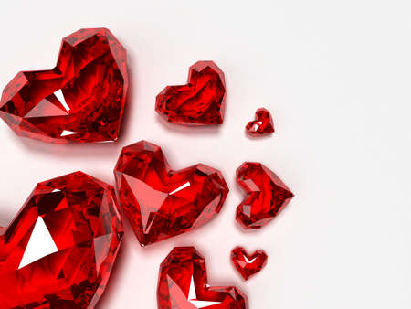 brilliant hearts Stock Photo