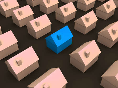 simple 3d houses photo