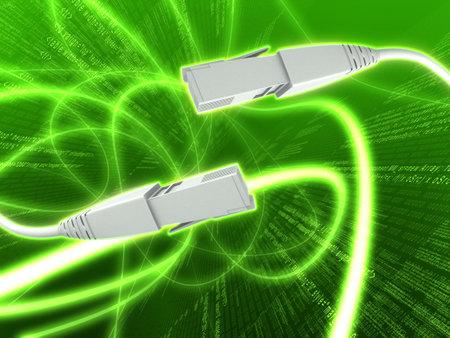broadband: 3d wire Stock Photo