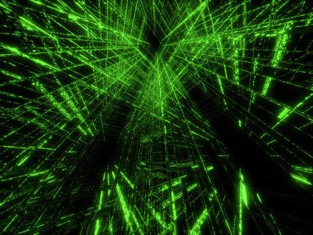 abstract green matrix