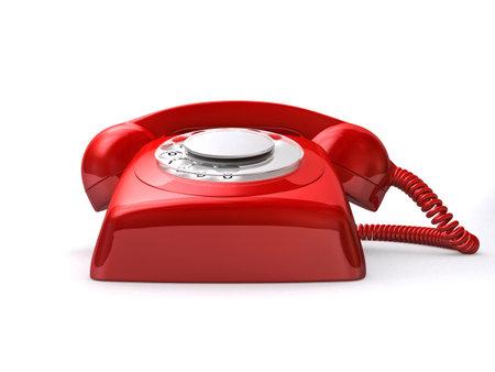 retro telephone: red retro telephone
