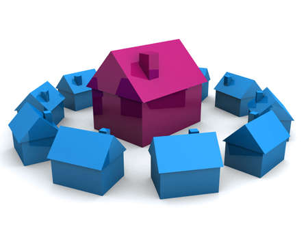 equal opportunity: little 3d houses
