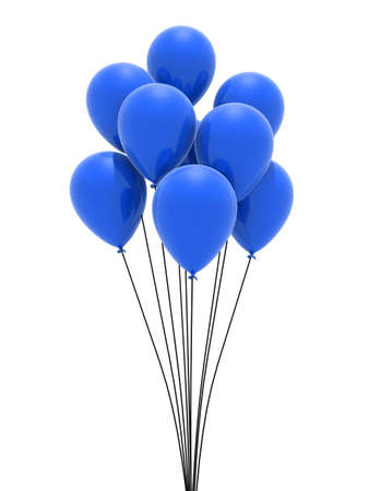 inflate: blue balloons