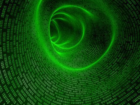 parallel world: binary tunnel Stock Photo