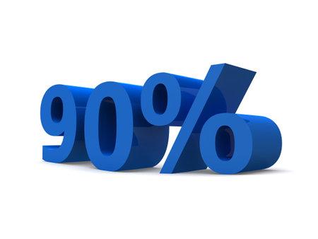 90% sign photo