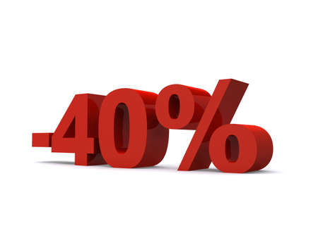 40: -40% sign