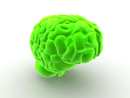 green brain Stock Photo - 2867062