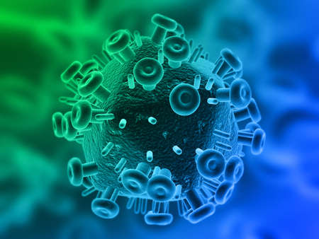 hiv virus: hiv virus Stock Photo