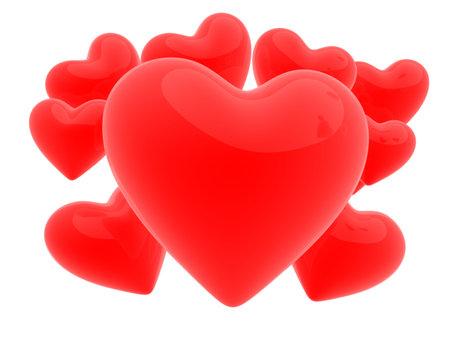 heartbreaker: 3d corazones  Foto de archivo