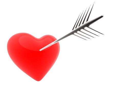 radiosity: heart and arrow Stock Photo