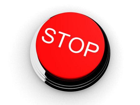 arrestment: stop button Stock Photo