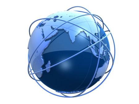 world connectivity: globe communication Stock Photo
