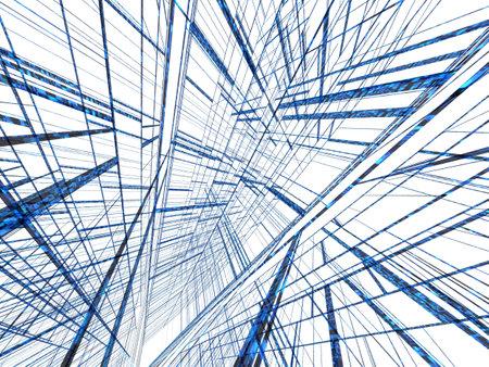 blue abstract matrix photo