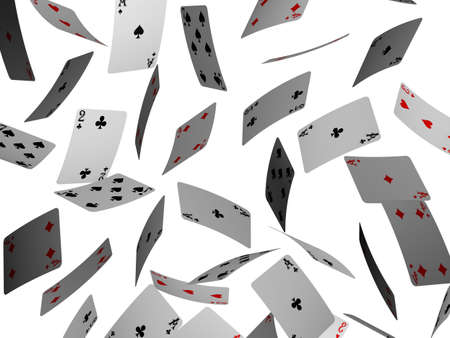 falling poker cards photo