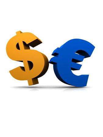 dollar and euro sign Zdjęcie Seryjne