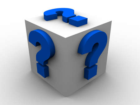 cube with question marks Stock Photo - 2873177