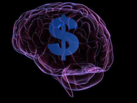 cerebra: dollar sign and brain