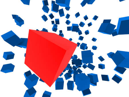 abstract cubes Stock Photo - 2873198