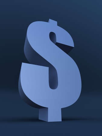 blue dollar sign Stock Photo - 2890869