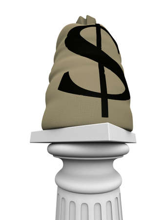 money sack on column Stock Photo - 2886265