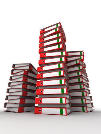 disorganization: 3d binders Stock Photo